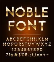 Hochwertige Gold-Effekt-Vektor-Buchstaben. Vektor-Illustration vektor