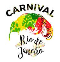 Rio Carnival. bokstäverdesign med handdragningsfjäder. vektor