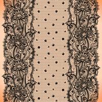 Abstrakt spetsband sömlöst mönster med element blommor och prickar