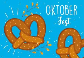 oktoberfest festival, brezeln essen traditionell, feier deutschland vektor