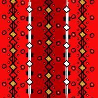 Nahtloses ethnisches vertikales Muster, Zickzacklinien und Punkte