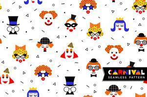 Nahtloses Muster des Karnevals im Memphis-Stil