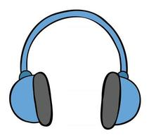 Cartoon-Vektor-Illustration des Kopfhörers vektor
