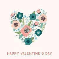 Florales Designkonzept für Valentinstag und andere Nutzer.