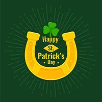 Glückliches Hufeisen an St. Patrick's Day