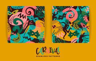 Brasilien karneval. Vektor sömlösa mönster med trendiga abstrakta element.