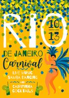 Brasilien Karneval. Vektorschablone für Karnevalskonzept. vektor