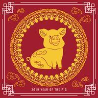 Vektor 2019 Chinesisches Neujahr