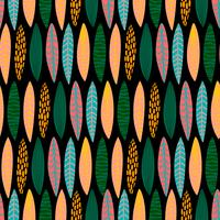 Stammes- nahtloses Muster mit abstrakten Blättern. Hand zeichnen Textur. vektor