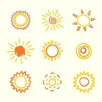 sol clipart set vektor