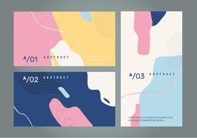 Abstrakt Retro Färg Banner Vektor Bakgrund