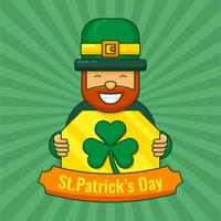 St Patrick's Day Leprechaun och Clover