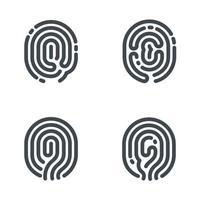 Fingerabdruck-Symbole unterzeichnen. Vektor-Illustration vektor
