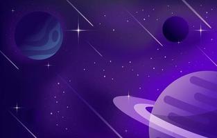 Raum mit Planetenkonzept vektor