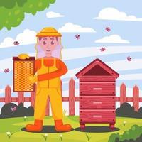 honungsbibeskydd vektor