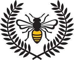 Bienen- und Lorbeerkranzfarbe vektor