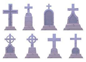 Grabsteinvektordesignillustration lokalisiert auf weißem Hintergrund vektor