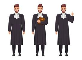 Richter Mann Vektor-Design-Illustration isoliert auf weißem Hintergrund vektor
