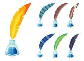 Tintenflasche Vektor-Design-Illustration isoliert auf weißem Hintergrund vektor