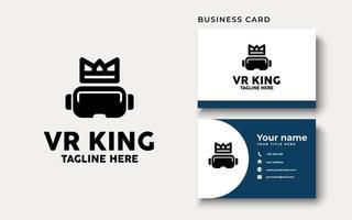 Logo-Design-Inspiration der virtuellen Realität, Vektorillustration vektor