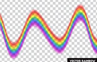 Transparenter Regenbogen. Vektor-Illustration Realistischer Regenbogen auf transparentem Hintergrund.