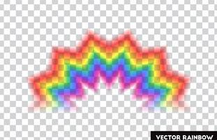 Genomskinlig regnbåge. Vektor illustration. Realistisk regnbåge på transparent bakgrund.