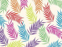 Tropisk djungel lämnar sömlös mönster bakgrund