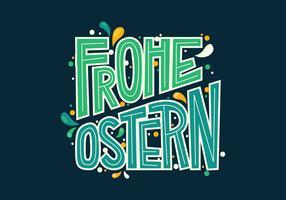 Frohe Ostern Typografie vektor