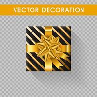 Realistische Geschenkbox Draufsicht. Geschenkboxen ohne Hintergrund. Vektor-Illustration vektor