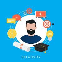 Bildung, E-Learning, Online-Kurse, Tutorials, Online-Unterricht, Videotraining, flaches Vektor-Illustration-Design für Universitätsabschlüsse für Web-Banner und Apps