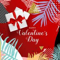 Glückliches Valentinsgruß-Tagestypographieplakat, romantisches Grußkartenvektor-Illustrationsdesign