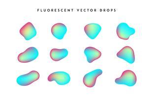 Gradienten lebendige Formen. Moderne abstrakte bunte Vektorflüssigkeitsansammlung. vektor