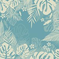 Tropischer Dschungel verlässt nahtlosen Musterhintergrund. Tropische Plakatgestaltung
