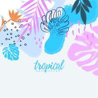 Tropischer Dschungel verlässt Hintergrund