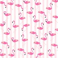 Flamingos med ränder sömlös mönster bakgrund vektor