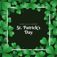 St. Patrick's Day Template Design Fahne vektor