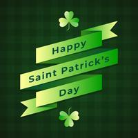 Saint Patricks Day Retro Ribbon auf Musterhintergrund
