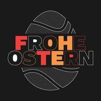 Frohe Ostern Glad påsk i tyska hälsningskort vektor