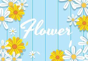 Blommabakgrund vektor