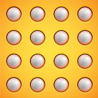Gelb sprudelt Hintergrund, Vektor