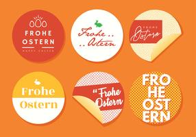 Frohe Ostern Typografie Pack