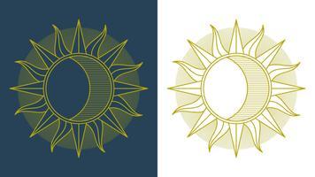Herausragender Vektor Sun Set Clipart