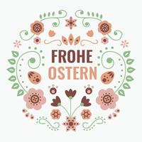Frohe Ostern Typografi Vector