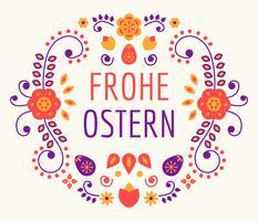 Frohe Osstern-Typografie-Vektor vektor