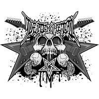 aggressives Emblem mit Totenkopf