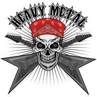 aggressivt emblem med skalle vektor