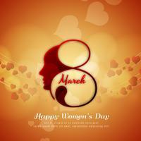 Abstraktes schönes Hintergrunddesign der glücklichen Frauen Tages