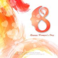 Bunte Aquarellhintergrundauslegung der abstrakten glücklichen Frauen Tages vektor