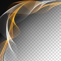 Abstrakt färgrik vågdesign på transparent bakgrund
