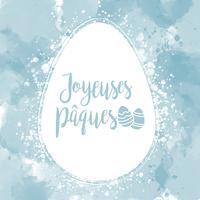 Vektor Joyeuses Pâques Bakgrund